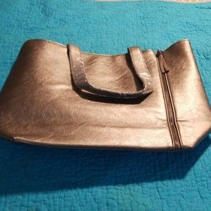 NWOT Neiman Marcus silver tote